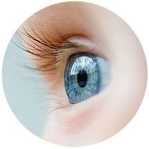 голубой глаз ребенка
